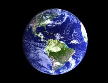 Skissebilde av jordkloden i farger med universet rundt.